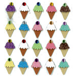 EK Success - Jolee's Boutique - 3 Dimensional Stickers with Gem and Glitter Accents - Ice Cream Repeats