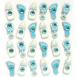EK Success - Jolee's Boutique - 3 Dimensional Stickers with Gem and Glitter Accents - Baby Boy Icons Repeats