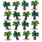 EK Success - Jolee's Boutique - 3 Dimensional Stickers with Gem and Glitter Accents - Palm Tree Repeats