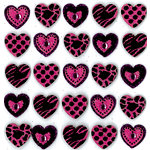 EK Success - Jolee's Boutique - 3 Dimensional Stickers with Gem and Glitter Accents - Animal Print Hearts Repeats