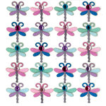 EK Success - Jolee's Boutique - 3 Dimensional Stickers with Gem and Glitter Accents - Dragonfly Repeats