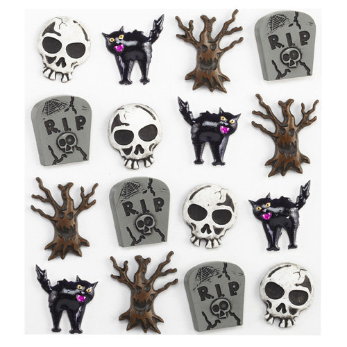 EK Success - Jolee's Boutique - Halloween - 3 Dimensional Stickers - Graveyard Cabochons