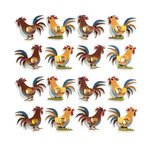 EK Success - Jolee's Boutique - 3 Dimensional Stickers with Foil and Gem Accents - Rooster Repeats