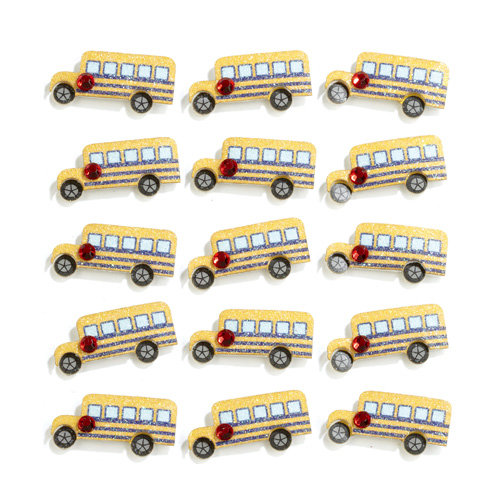 EK Success - Jolee's Boutique - 3 Dimensional Stickers with Gem and Glitter Accents - School Bus Repeats