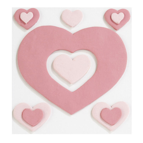 EK Success - Jolee's Boutique - Confections Collection - 3 Dimensional Stickers - Fondant Hearts