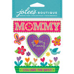 EK Success - Jolee's Boutique - Core Refresh Collection - 3 Dimensional Stickers with Gem Accents - I Love My Mommy