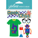 EK Success - Jolee's Boutique - Core Refresh Collection - 3 Dimensional Stickers with Epoxy Accents - Geek is Chic