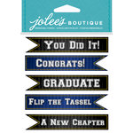 EK Success - Jolee's Boutique - Core Refresh Collection - 3 Dimensional Stickers - Graduation Banners