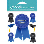EK Success - Jolee's Boutique - Core Refresh Collection - 3 Dimensional Stickers - Graduation Caps and Ribbons