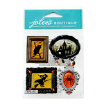 EK Success - Jolee's Boutique - Halloween 2013 Collection - 3D Stickers - Framed Silhouettes