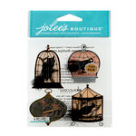 EK Success - Jolee's Boutique - Halloween 2013 Collection - 3D Stickers with Foil and Gem Accents - Birds in Cages