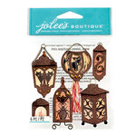 EK Success - Jolee's Boutique - Halloween 2013 Collection - 3D Stickers with Gem and Glitter Accents - Lantern Silhouettes