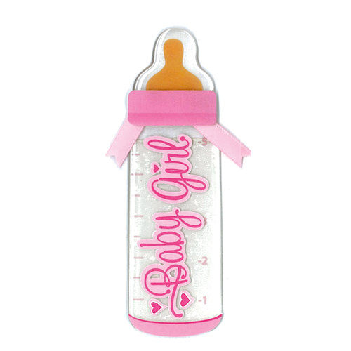 EK Success - Jolee's by You - Dimensional Stickers - Baby Bottle - Girl