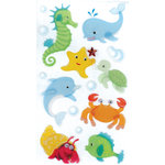 EK Success - Jolee's Boutique - 3 Dimensional Stickers with Glitter Accents - Baby Sea Creatures