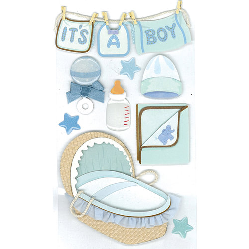 EK Success - Jolee's Boutique - 3 Dimensional Stickers - Baby Boy, CLEARANCE