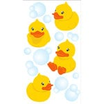 EK Success - Jolee's Boutique - 3 Dimensional Stickers with Epoxy and Glitter Accents - Vellum Rubber Ducky N Bubbles, CLEARANCE