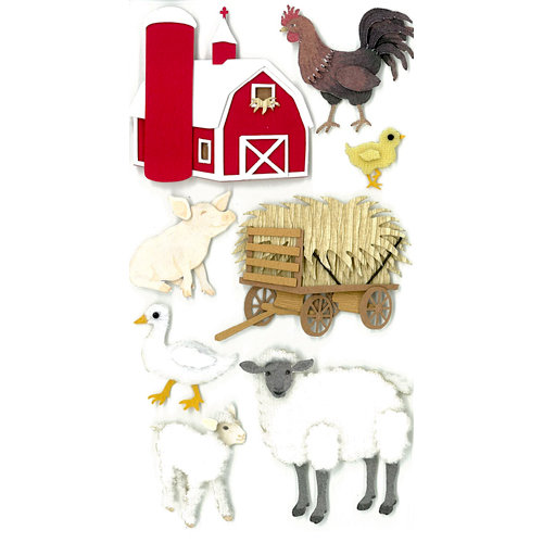 EK Success - Jolee's Boutique - 3 Dimensional Stickers - Barnyard
