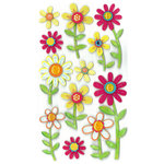 EK Success - Jolee's Boutique - 3 Dimensional Stickers with Epoxy Gem and Glitter Accents - Large Daisy Repeats