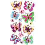 EK Success - Jolee's Boutique - 3 Dimensional Stickers with Glitter Accents - Paisley Butterfly Repeats