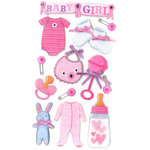 EK Success - Jolee's Boutique - 3 Dimensional Stickers with Epoxy and Gem Accents - Baby Girl
