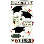 EK Success - Jolee's Boutique - 3 Dimensional Stickers with Foil Accents - Graduation Celebrate