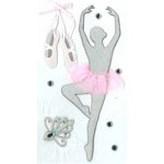 EK Success - Jolee's Boutique - Parcel Refresh Collection - 3 Dimensional Stickers with Gem and Glitter Accents - Ballerina