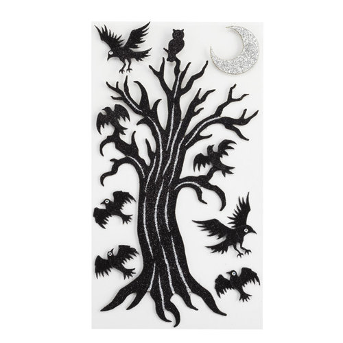 EK Success - Jolee's Boutique - Parcel Refresh Collection - Halloween - 3 Dimensional Stickers with Gem and Glitter Accents - Spooky Tree