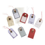 EK Success - Jolee's Boutique - French General Collection - Craft Tags with Metal Embellishments