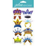 EK Success - Jolee's Boutique - Dress Ups Collection - 3 Dimensional Stickers with Foil and Gem Accents - Fun Crowns