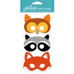 EK Success - Jolee's Boutique - Dress Ups Collection - 3 Dimensional Stickers - Furry Masks