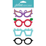 EK Success - Jolee's Boutique - Dress Ups Collection - 3 Dimensional Stickers with Foil and Gem Accents - Glasses