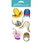 EK Success - Jolee's Boutique - Dress Ups Collection - 3 Dimensional Stickers with Epoxy and Foil Accents - Hats