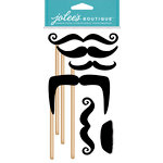 EK Success - Jolee's Boutique - Dress Ups Collection - 3 Dimensional Stickers - Moustaches on Sticks