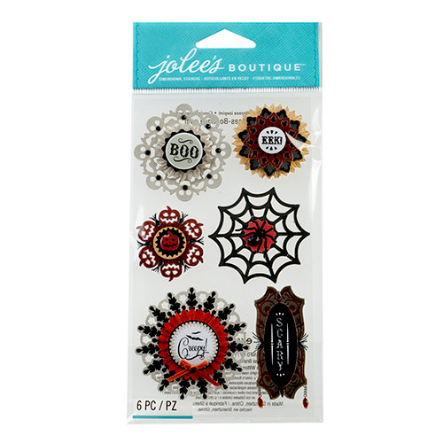 EK Success - Jolee's Boutique - Halloween 2013 Collection - 3D Stickers - Large Doily Medallions