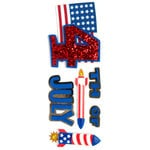 EK Success - Jolee's Boutique - 3 Dimensional Stickers with Foil and Glitter Accents - July 4th