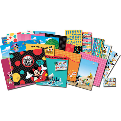 EK Success - Disney Collection - 12 x 12 Scrapbook Album Kit - Vacation and Travel