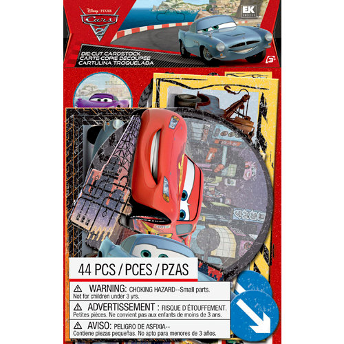 EK Success - Disney Collection - Cars 2 - Die Cut Cardstock Pieces with Specialty Accents