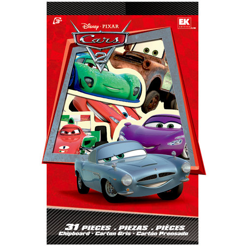 EK Success - Disney Collection - Cars 2 - Chipboard Box with Varnish Accents