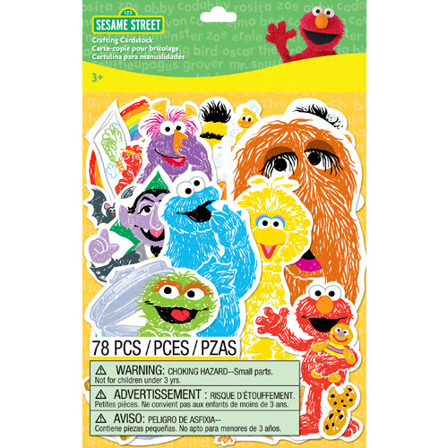 EK Success - Sesame Street Collection - Die Cut Cardstock Pieces with Varnish Accents - Characters
