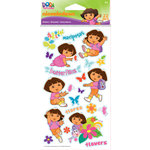 EK Success - Nickelodeon Collection - Epoxy Stickers - Dora the Explorer