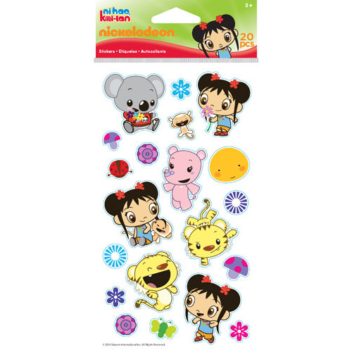 EK Success - Nickelodeon Collection - Epoxy Stickers - Nihao Kai-lan