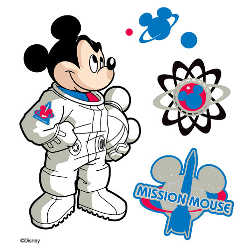 EK Success - Disney Collection - 3 Dimensional Stickers with Epoxy Foil and Varnish Accents - Mickey Space