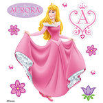 EK Success - Disney Collection - 3 Dimensional Stickers with Epoxy Foil and Gem Accents - Aurora