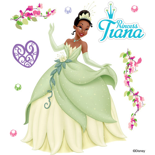 EK Success - Disney Collection - 3 Dimensional Stickers with Epoxy Foil and Gem Accents - Tiana