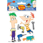 EK Success - Disney Collection - 3 Dimensional Stickers with Epoxy Foil and Varnish Accents - Phineas and Ferb
