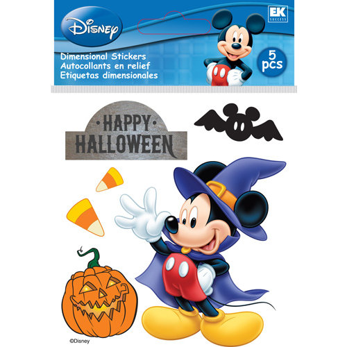 EK Success - Disney Collection - Halloween - 3 Dimensional Stickers with Epoxy and Foil Accents - Mickey Happy Halloween