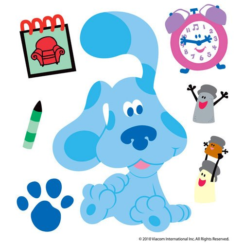 EK Success - Nickelodeon Collection - 3 Dimensional Stickers with Epoxy and Varnish Accents - Blues Clues