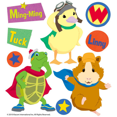 EK Success - Nickelodeon Collection - 3 Dimensional Stickers with Varnish Accents - Wonder Pets