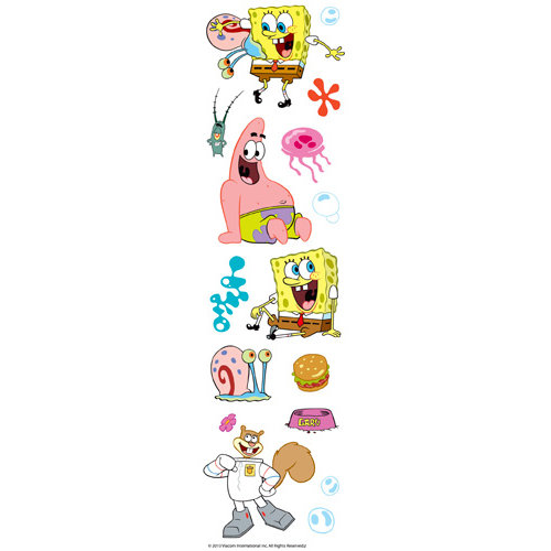 EK Success - Nickelodeon Collection - 3 Dimensional Stickers with Varnish Accents - SpongeBob and Gary