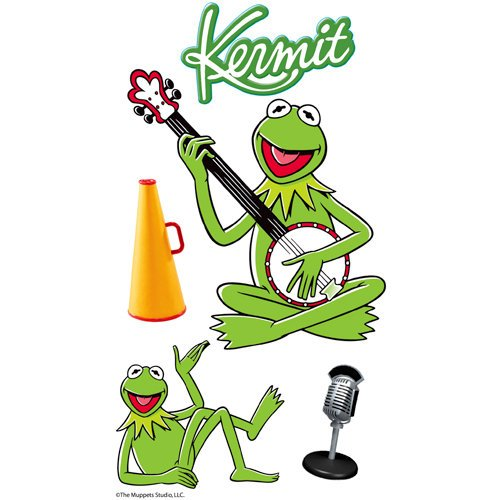 EK Success - The Muppets Collection - 3 Dimensional Stickers with Epoxy Foil and Glitter Accents - Muppets Kermit the Frog
